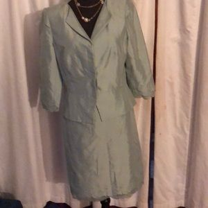 Kay Unger Silk Career Business Skirt Suit size 8
